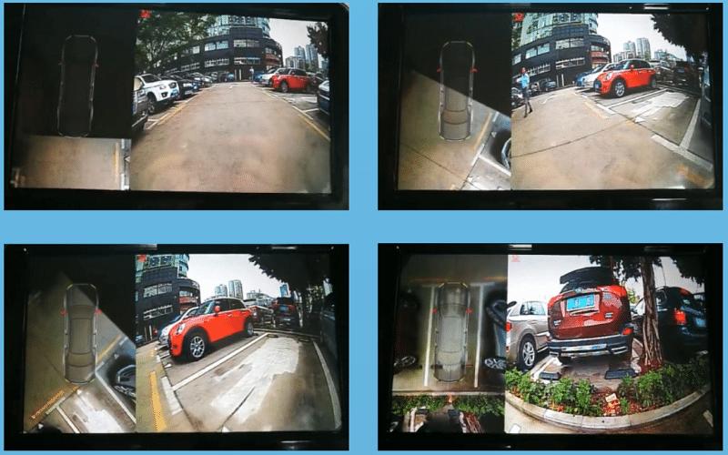 Camera 360 AVM hỗ trợ hoàn hảo trong những trường hợp lùi xe, đỗ xe hoặc di chuyển qua đường chật hẹp