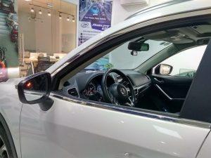 Mazda CX5 lắp hệ thống cảnh báo điểm mù trên gương (bộ BSM-01M)