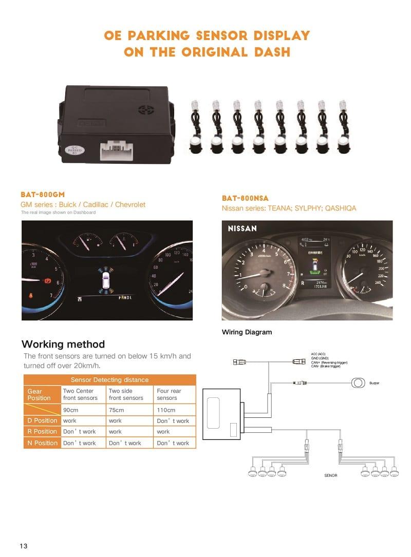 Bộ sản phẩm có 2 tùy chọn loại 4 cảm biến hoặc 8 cảm biến