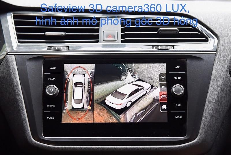 Safeview 3D Camera 360 LUX hiển thị rõ mọi vùng mù