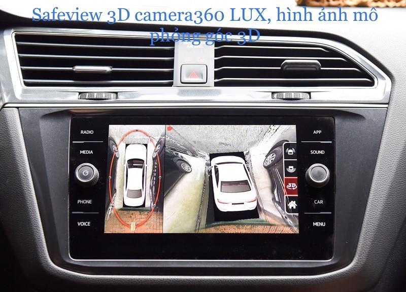 Safeview 3D Camera 360 LUX hỗ trợ đắc lực khi ghép xe song song