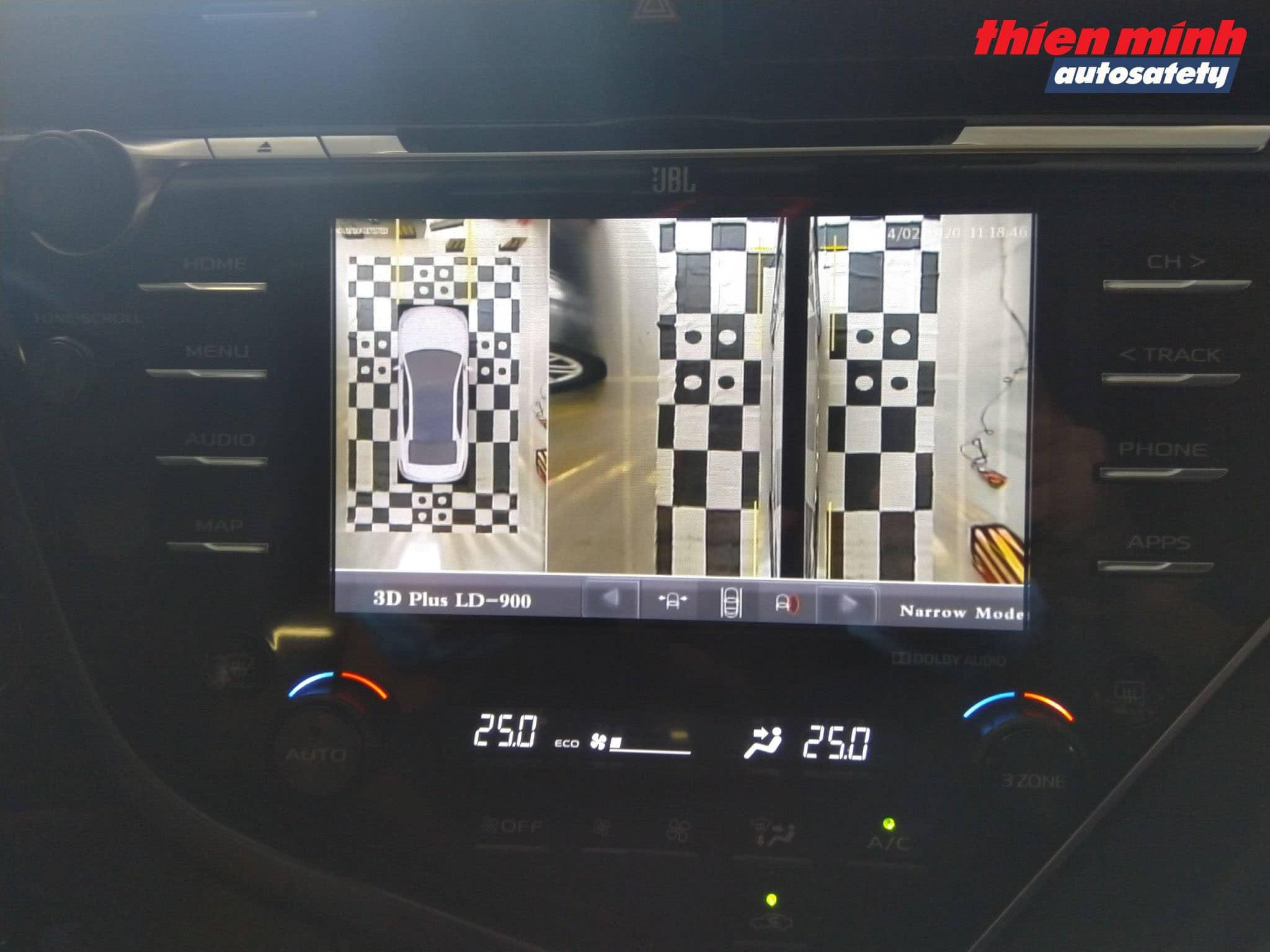 Góc hình Camera 2 bên trái - phải từ trên xuống