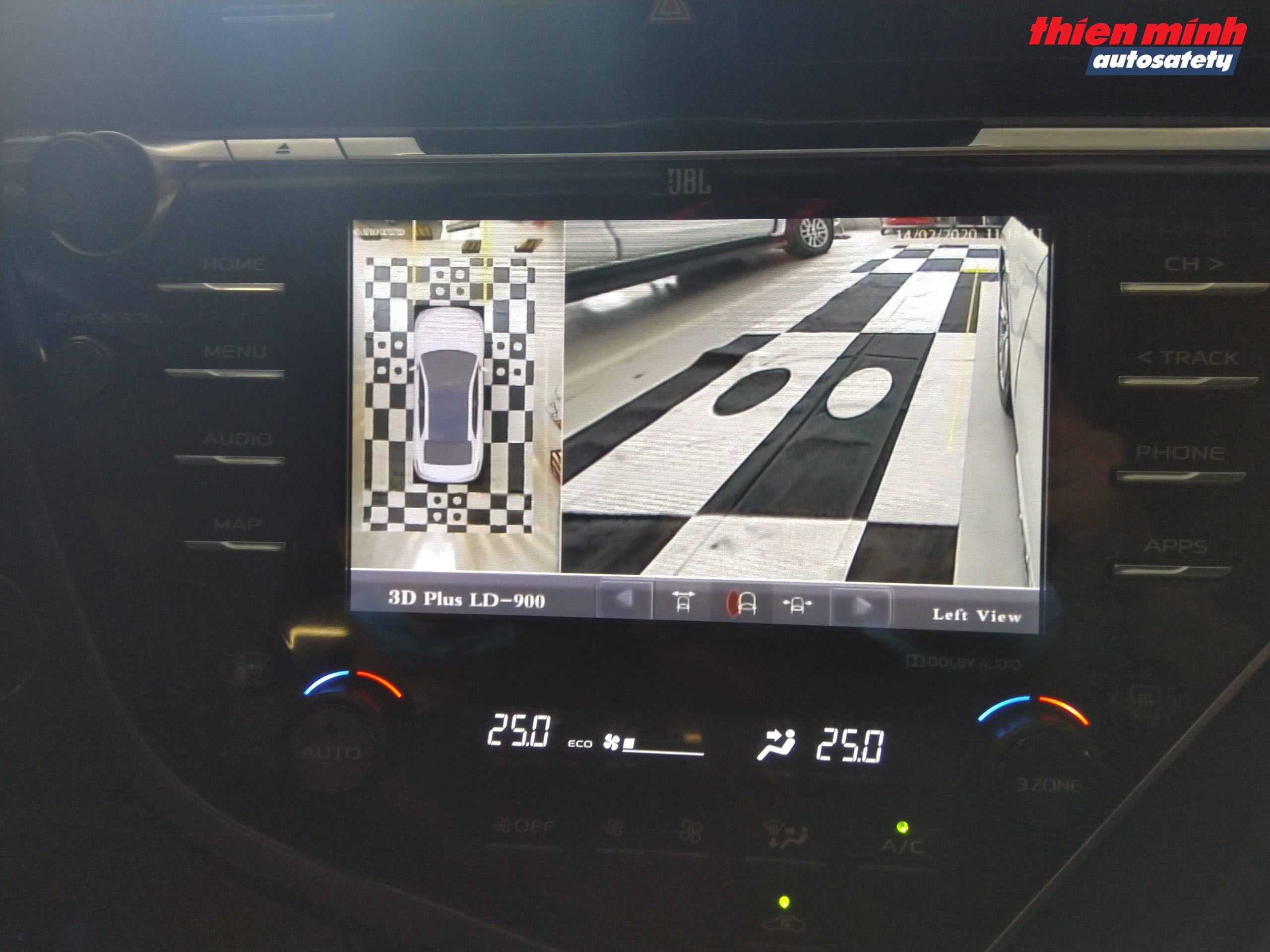 Góc hình Camera bánh xe trái phía trước