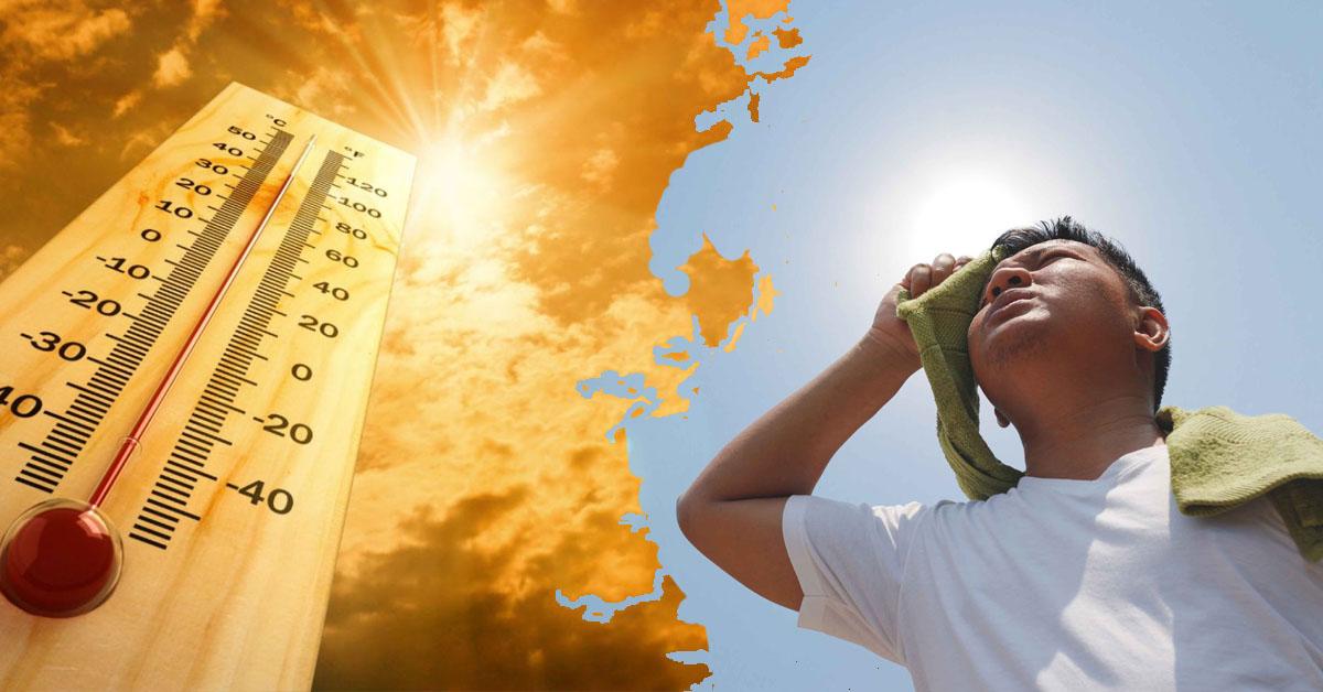 Nhiệt độ nắng nóng đạt đến ngưỡng hơn 40 độ C